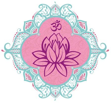 shiatsu: Frame with lotus