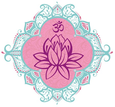 Frame with lotus
