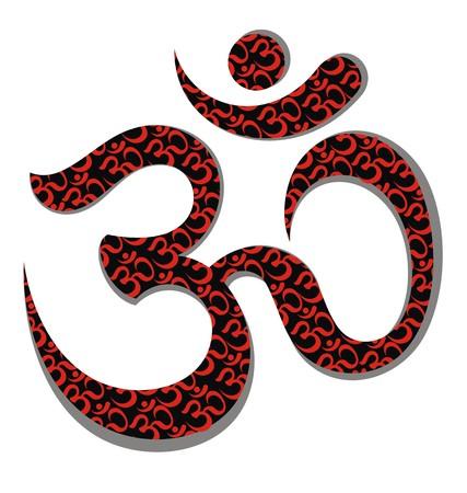 heart chakra: Om sign and symbol