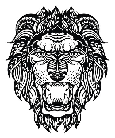 lion head: Lion Head Graphic.Leo