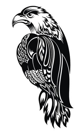 Detailed Decorative Hand Drawn Eagle