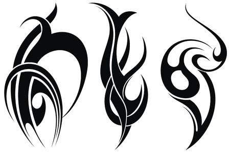 polynesian: Styled decorative tattoo
