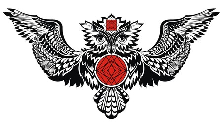 totem: owl illustration