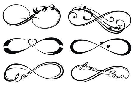 signo infinito: Amor infinito, para siempre símbolo