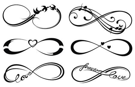 Infinity liefde, voor altijd symbool Stock Illustratie