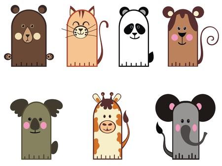funny animal: ilustraci�n de animales divertidos