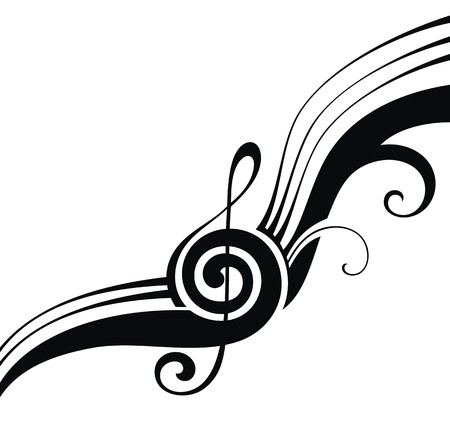 swirling: music notes Illustration