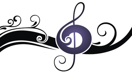 sixteenth note: music notes Illustration