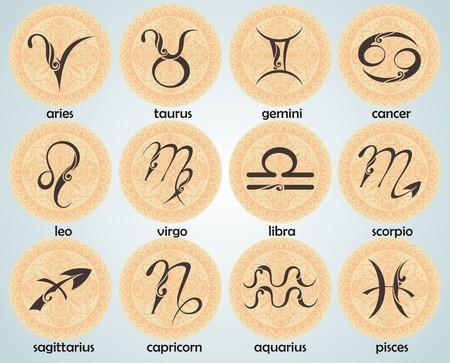 zodiac signs 向量圖像