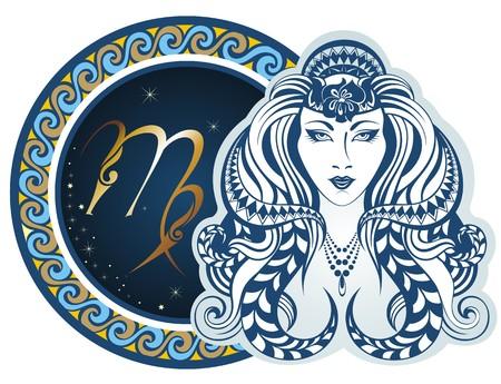 Znaków zodiaku - Virgo Ilustracje wektorowe