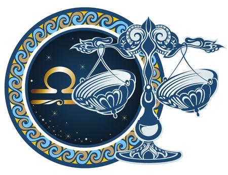 libra zodiac: Zodiac signs - Libra Illustration