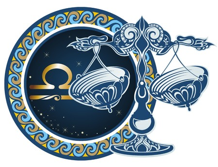 Zodiac signs - Libra 向量圖像