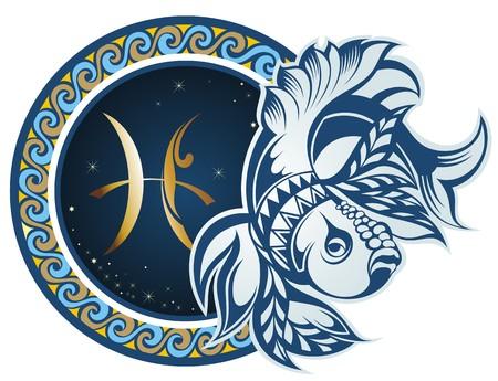 Zodiac signs - vissen Stock Illustratie