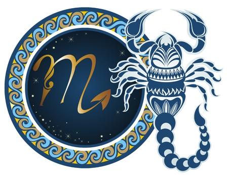 Signos del zodiaco - Escorpio Foto de archivo - 45500217