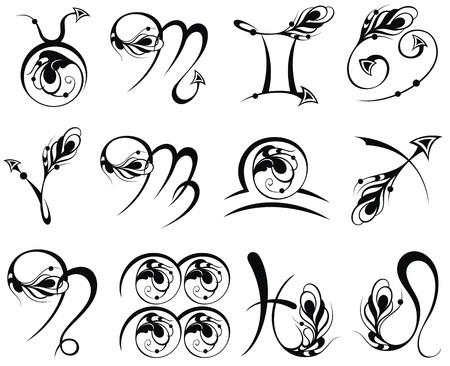 sagittarius: Zodiac Symbol icons vector illustration