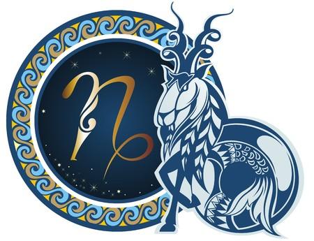 capricornio: Signos del zodiaco - Capricornio Vectores