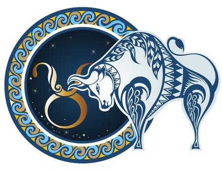 Zodiac signs - Taurus  イラスト・ベクター素材