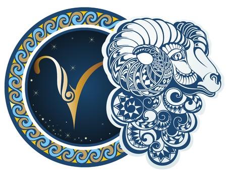 Zodiac signs - Aries Vettoriali