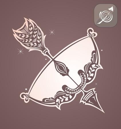 signes du zodiaque: Sagittaire signe du zodiaque Illustration