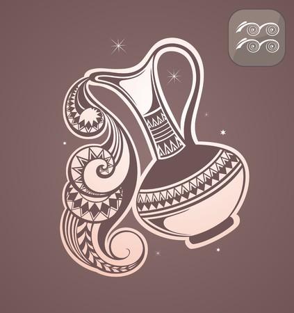 signes du zodiaque: signe du zodiaque Aquarius Illustration
