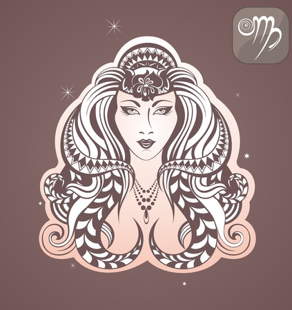 virgo zodiac sign: virgo zodiac sign Illustration