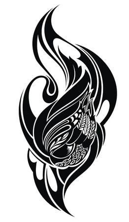 tattoo vector: tribal tattoo Illustration