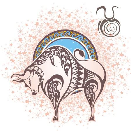 Taurus. Zodiac sign Vettoriali