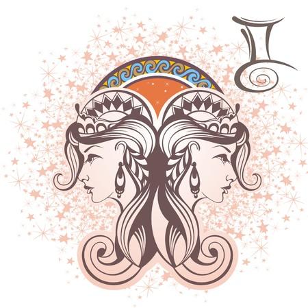 Gemini sign Vettoriali