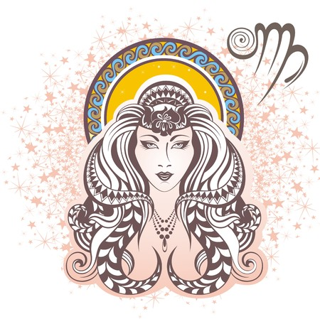 astrologer: Virgo sign Illustration