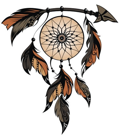 Apache Dream Catchers Hand Drawn Illustration Of Dream Catcher Royalty Free Cliparts 23