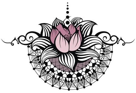 white lily: Lotus design