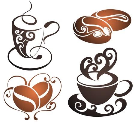 copa: taza de café de vectores