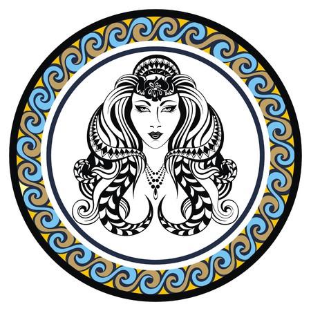 virgo: Decorativo signo zodiacal Virgo