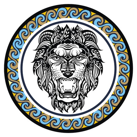 zodiacal symbol: Decorative Zodiac sign Leo