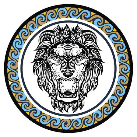 signes du zodiaque: Signe décoratif Zodiac Lion
