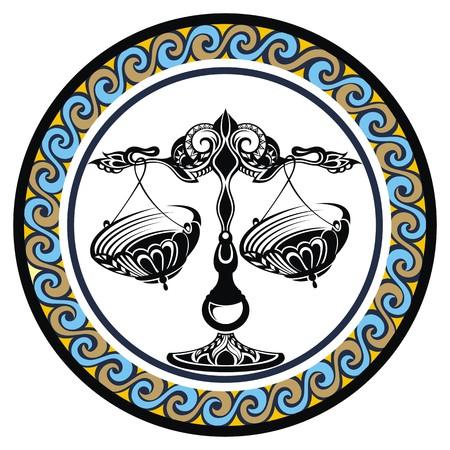 zodiacal: Decorative Zodiac sign Libra