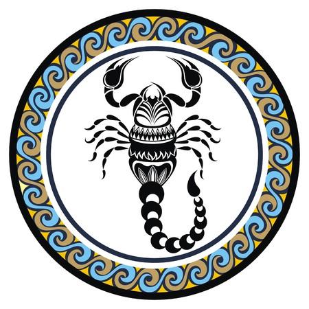 signes du zodiaque: Signe décoratif Zodiac Scorpion