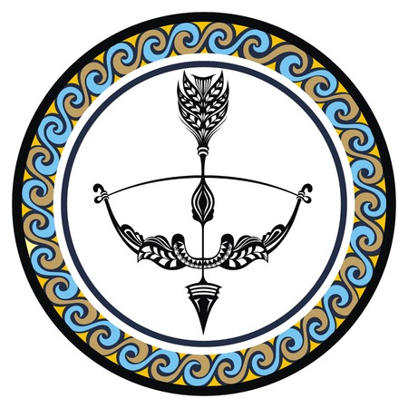 zodiacal: Decorative Zodiac sign Sagittarius