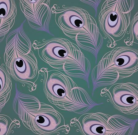 tail fan: Peacock feather pattern
