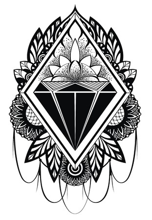 japan pattern: diamond tattoo