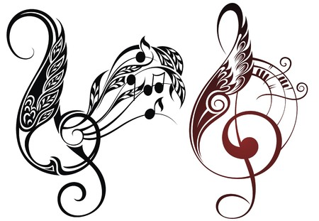 music: music elements Illustration