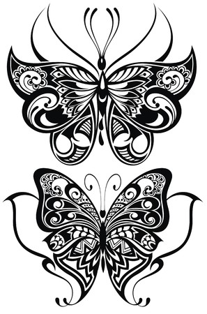 fashion art: Decorative butterflies Illustration