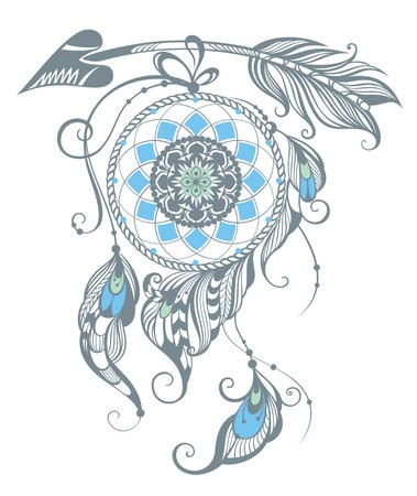 Illustration of dream catcher Illustration