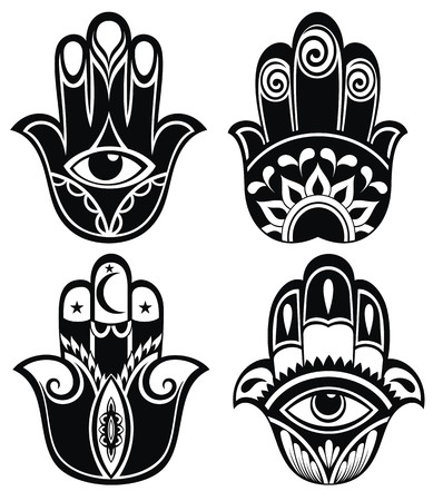 protection hands: Hamsa hand, Hand of Fatima - amulet