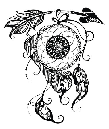 feathery: Indian Dream catcher