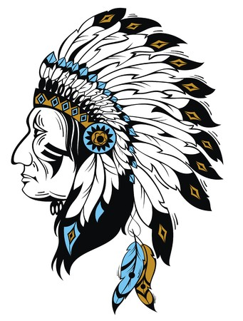indian chief mascot: indian chief Illustration