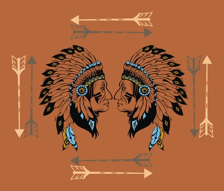 cherokee: Apaches mascot Illustration