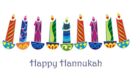 happy hanukkah Ilustrace
