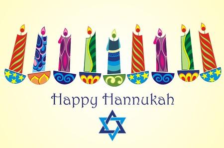 hannukah: happy hanukkah Illustration