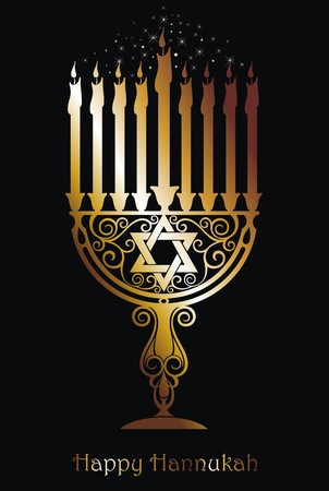 hannukah: Hannukah logo symbol